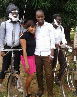 Chommy with Nze Sam(SUG Governor) Nze Sam probably didnt get  the memo that today was old school day
