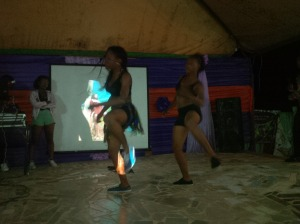 M.O.B dance crew on stage