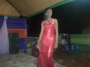 Contestant 3 dinner gown