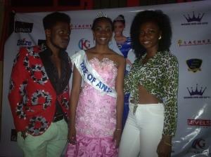 L-R: Mr 6pac Skie, Stephanie, Top Model Constance