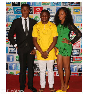 Denze cozying up on the red carpet with Outing Mr & Miss Lawsaa